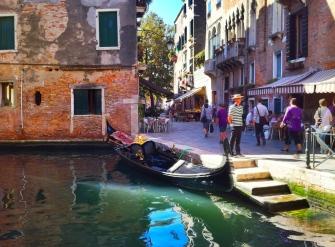 Venice canal near the Santa Maria Basilica