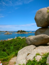 Pink granite coastline at Saint Guirec