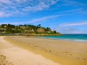 Beach in front of Dinard