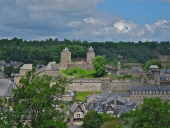 Fougeres from the upper town and gardens