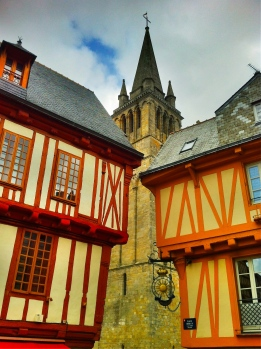 More half-timbered houses in Vannes