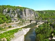 Ardeche River near Balazuc