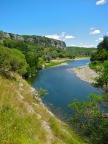 Ardeche River walk near Balazuc to Audon