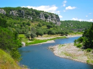 Ardeche River walk near Audon