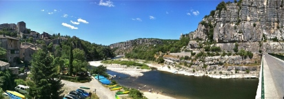 Balazuc, Ardeche River and bridge