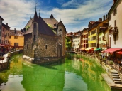 Canal and old Annecy prison