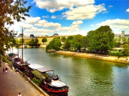 The end of the Ile de la Cite island from the Pont Neuf bridge