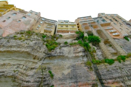 The walls and cliffs meet in Tropea