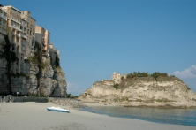 Beach and cliffs of Tropea