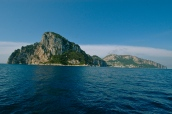 Approaching the island of Capri