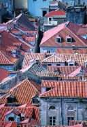 Dubrovnik rooftops from the ramparts