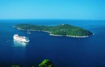 Island of Lokrum in front of Dubrovnik