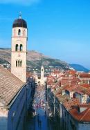 Stradum, main promenade of Dubrovnik
