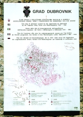 Map showing where all the mortars fell during the bombing of Dubrovnik