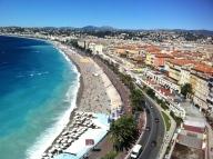 Nice's famous shoreline and promenade