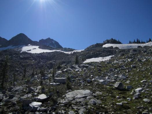 Reaching the glacier base