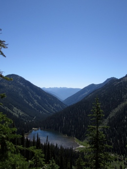 View looking back at Six Mile Lakes