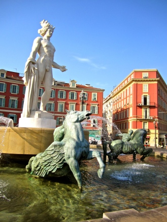 Place Massena, in front of Old Town Nice