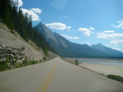 Highway between Banff and Jasper