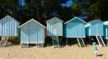Beach huts on Plage des Dames
