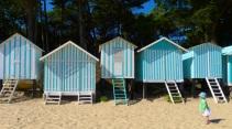 Beach huts on Plage des Dames