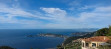 View from above Eze, looking back towards Nice on D2564