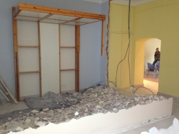 Between bedrooms wall demolition