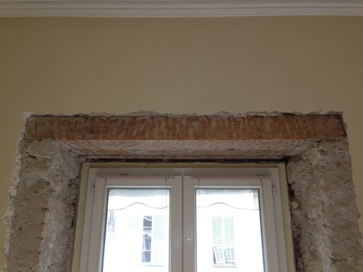 Recovering the window wooden support beams