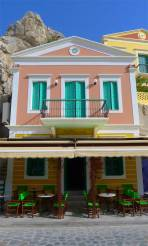 Typical home in Symi, Greece