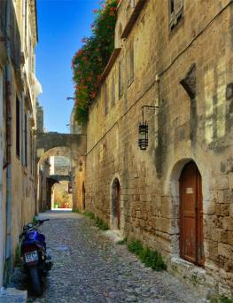 Narrow streets of Rhodes