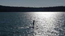 Paddle boarding in the San Juan Islands