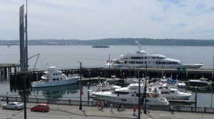 215' yacht Invictus at Bell Harbor