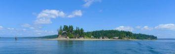 Typical shoreline of the San Juans