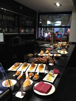 Bar selection of tapas
