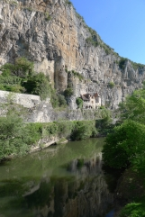 Medieval homes built into the cliffs of the river Cleré
