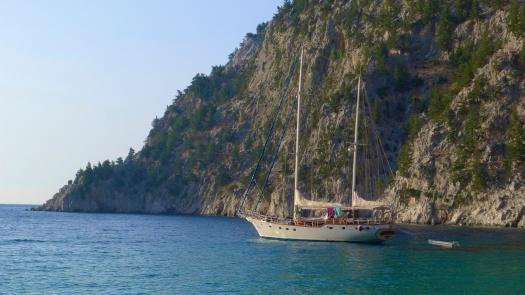 Teodora at anchor