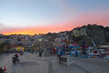 Sunset in Symi