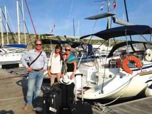 Setting off from Kremik Marina