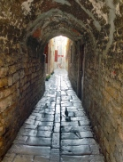 Split passageway