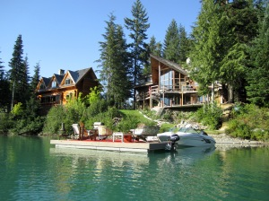 """Green Lake """"Dock"""" rafts"""