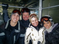 The family on a ski trip
