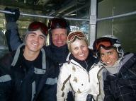 The family on a ski trip