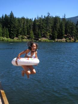 Swimming on Alpha Lake