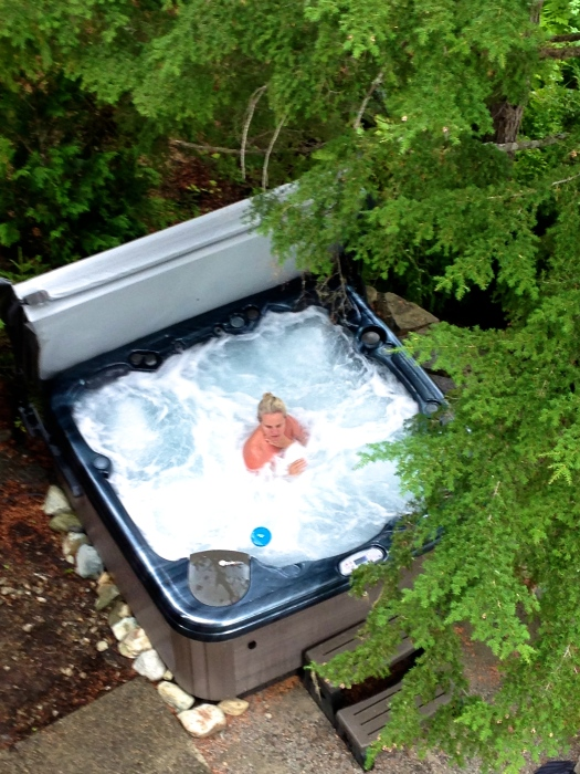 Lakeside hot tub