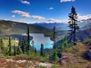 Looking back over Callagnan Lake