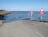 The entrance to Le Gois at high tide
