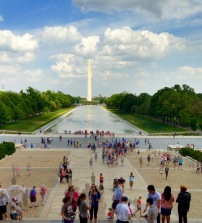 Reflection pool from Lincoln Memorial