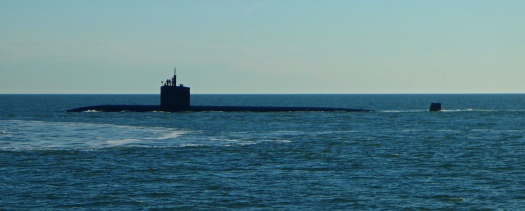 Passing submarine