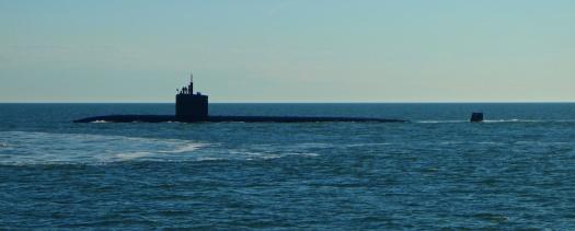 Passing submarine