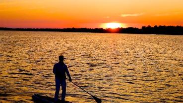 Evening paddle...